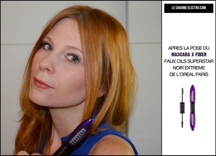 Avant Apres Mascara X Fiber faux cils superstar noir extreme volume allongement 2 Le Charme Electro.com