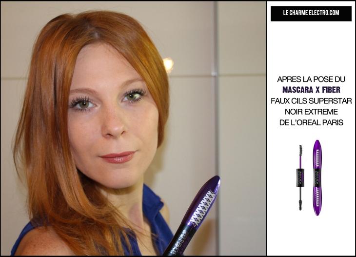 Avant Apres Mascara X Fiber faux cils superstar noir extreme volume allongement Le Charme Electro.com