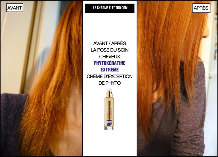 Avant Apres phytokeratine creme d exception soin cheveux beaute Le Charme Electro.com
