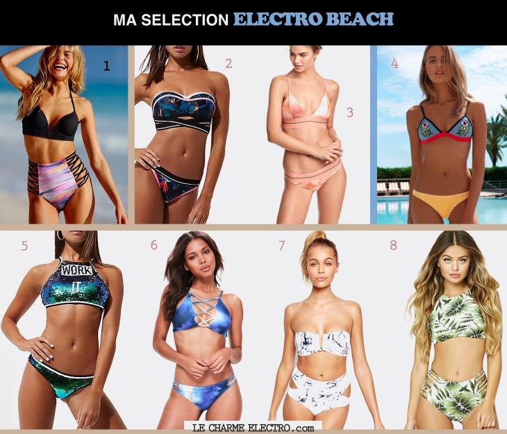 Maillot de bain Style Beach Plage Electro Tendance Mode Femme