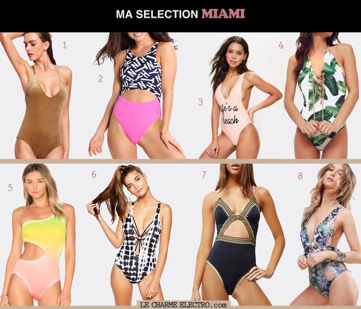 Maillot de bain style Miami tendance mode femme