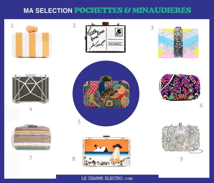 Pochettes Minaudieres - Mini Sacs Tendance Mode Style Femme Soirées