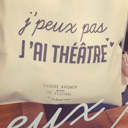 Festival Off Avignon - Boutique I Code Avignon - Sac - Je peux pas j ai theatre Le Charme Electro.com
