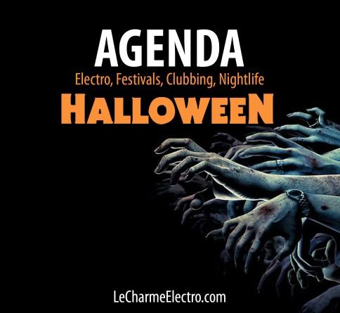 Agenda Clubbing Octobre Halloween Paris - LeCharmeElectro- 2017 Noir