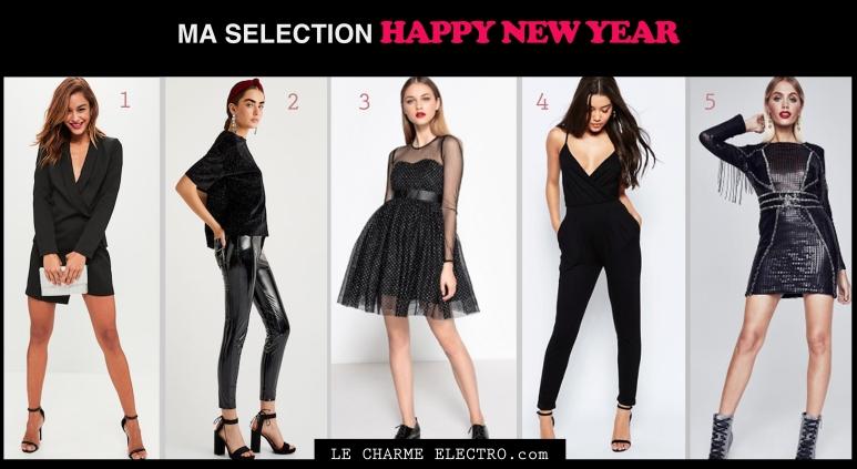 Jour de l'an 2017 Total look black Tendance Mode Femme quelle tenue pour le jour de l'an - Le Charme Electro