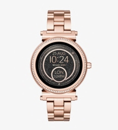 Michael Kors Montre connectée Sofie ton or rosé