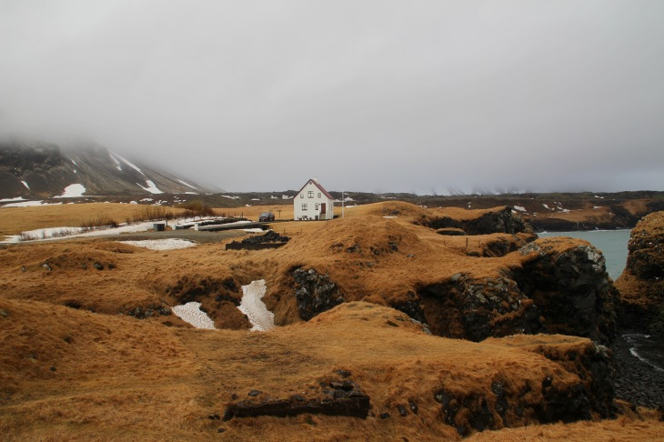 Arnarstapi - péninsule de Snæfellsnes - Voyage en Islande fin Mars - Paysage