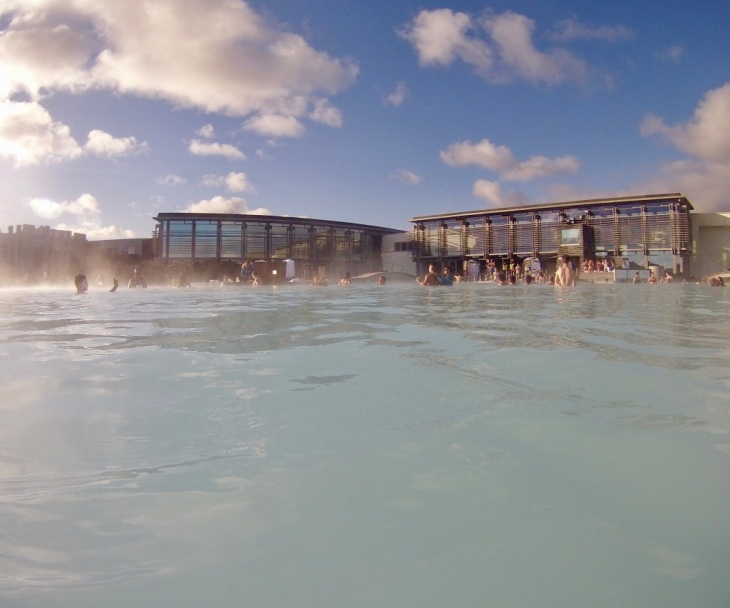 Blue Lagoon Islande vue de l'intérieur