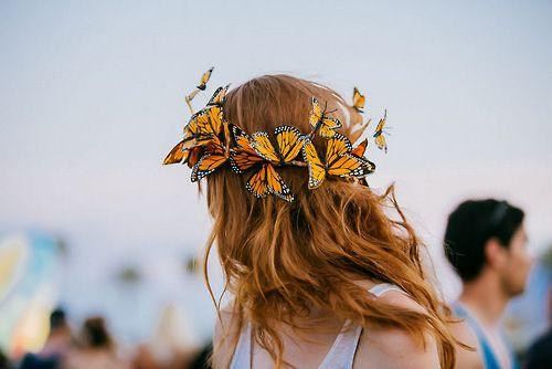 Couronne Cheveux Papillon Festival
