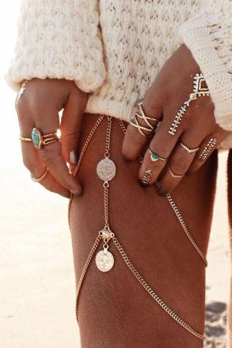 Idée de look tendance style Coachella Festival Bijoux