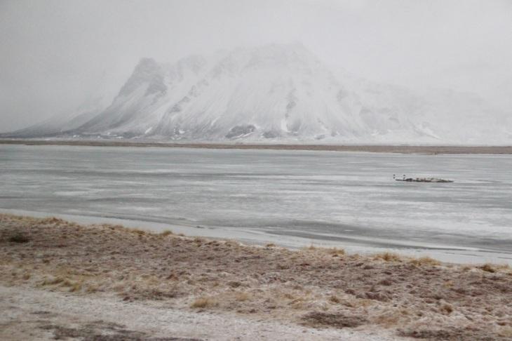Paysage enneigé Islande en Mars