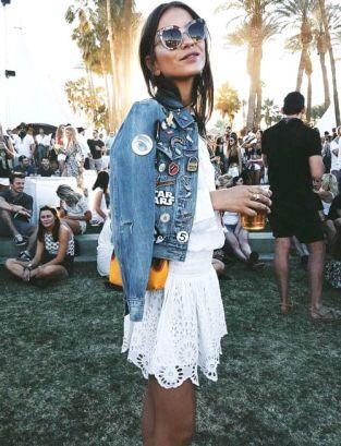 Veste en Jean festival femme Look