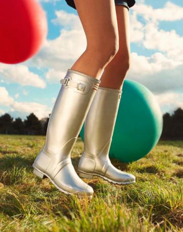 Bottes Hunter Boots - Idées de tenues de Festival sous la pluie