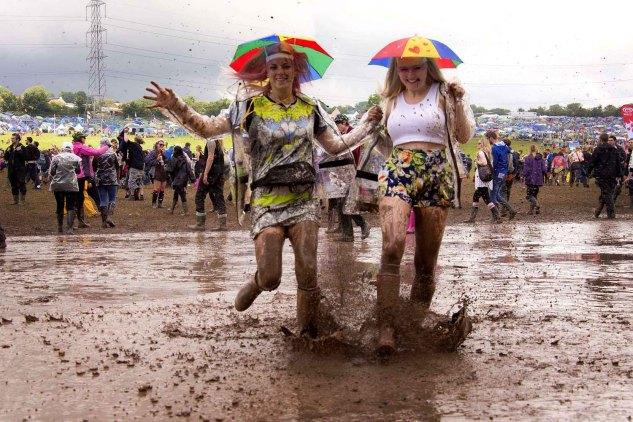 Festival sous la pluie - Boue