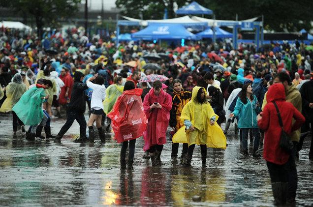 Festival sous la pluie - Look à éviter