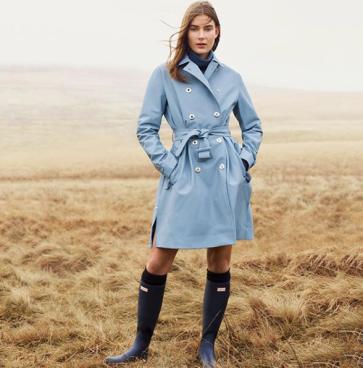 Mode - Manteau de pluie et bottes Hunter