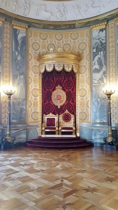 Le trône du Palais de Christiansborg à Copenhague - Siège du parlement, du premier ministre et de la cour suprême