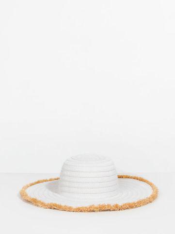 Parfois : Chapeau en raphia blancRéf :157974_WTU