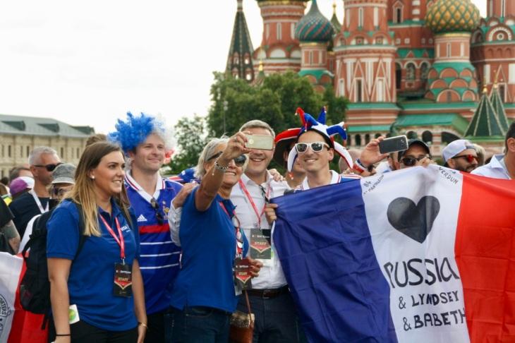 Les supporters francais durant la Fifa World cup 2018 - Coupe du monde 2018 - Moscou Russie