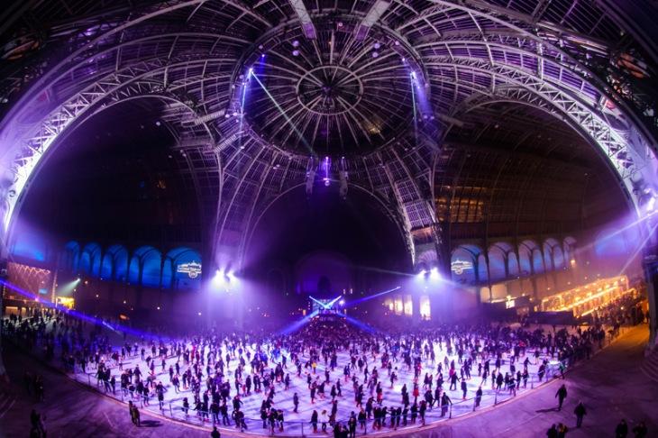 Nocturne light show et dj set - La patinoire du Grand Palais à Paris- Le Grand Palais des Glaces