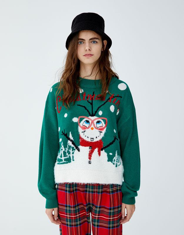 taille 40 6368c e4398 Pull & Bear Pull de Noel – Pull Christmas femme – Le Charme ...