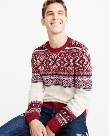 Pull noel Homme Abercrombie Fitch